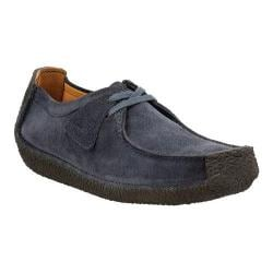 Men's Clarks Natalie Moc Toe Shoe Navy Suede