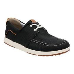Men's Clarks Norwin Go Moc Toe Shoe Black Synthetic
