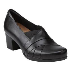Women's Clarks Rosalyn Adele Black Leather
