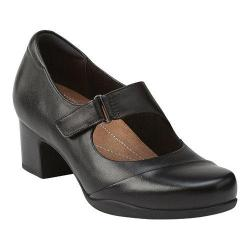 Women's Clarks Rosalyn Wren Black Leather