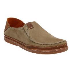 Men's Clarks Trapell Form Moc Toe Shoe Olive Nubuck
