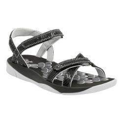 Women's Clarks Tresca Trace Ankle Strap Sandal Black Multi Synthetic