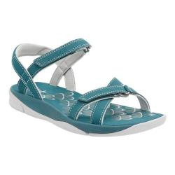 Women's Clarks Tresca Trace Ankle Strap Sandal Teal Synthetic
