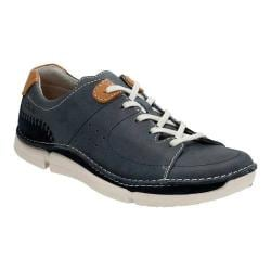 Men's Clarks Trikeyon Mix Lace Up Shoe Blue Leather