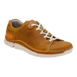 Men's Clarks Trikeyon Mix Lace Up Shoe Tan Leather