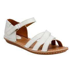 Women's Clarks Tustin Sahara Ankle Strap Sandal Off White Full Grain Leather