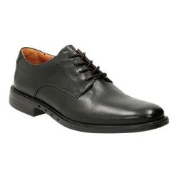 Men's Clarks Un.Bizley Plain Toe Shoe Black Leather