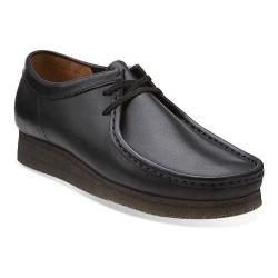 Men's Clarks Wallabee Black/Black Leather