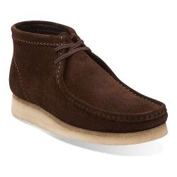 Men's Clarks Wallabee Boot Dark Brown Suede