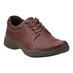 Men's Clarks Wave Korey Mix Moc Toe Shoe Brown Leather