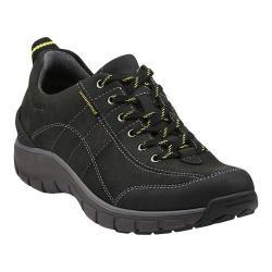 Women's Clarks Wave.Trek Walking Shoe Black Leather