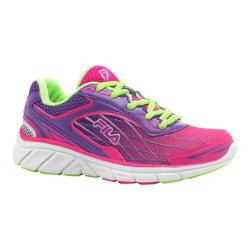 Girls' Fila Imperative Running Shoe Pink Glow/Electric Purple/Green Gecko