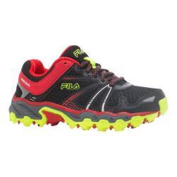 Boys' Fila TKO TR Trail Running Shoe Black/Fila Red/Safety Yellow