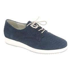 Women's Gabor 42-565 Lace Up Shoe Nightblue Kroko Nubuck/Leather