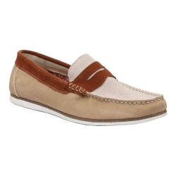 Men's GBX Ransomm Penny Loafer Sand/Rust Suede