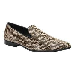 Men's Giorgio Brutini Raffia Slipper 17632 Black/Natural Raffia