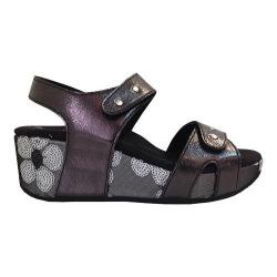 Women's Helle Comfort Olina Wedge Sandal Black Leather
