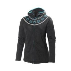 Women's Helly Hansen Graphic Fleece Hoodie Ebony