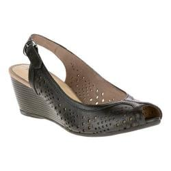 Women's Hush Puppies Baxley Rhea Slingback Black Leather