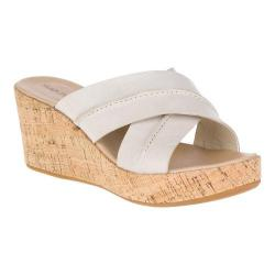Women's Hush Puppies Belina Durante Wedge Sandal Off White Leather