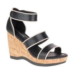 Women's Hush Puppies Elliston Lucca Wedge Sandal Black Leather
