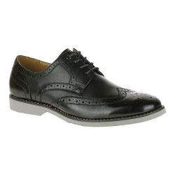 Men's Hush Puppies Fowler EZ Dress Wingtip Derby Black Leather
