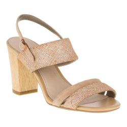 Women's Hush Puppies Molly Malia Quarter Strap Sandal Tan Scratched Leather