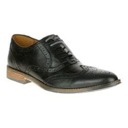 Men's Hush Puppies Style Brogue Black Smooth Leather