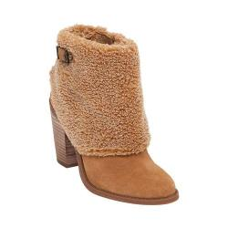 Women's Jessica Simpson Cassley2 Bootie Dakota Tan Split Suede/Faux Shearling