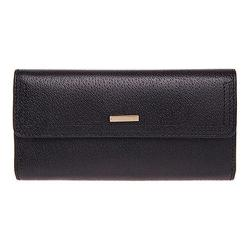 Women's Lodis Stephanie RFID Checkbook Clutch Wallet Black
