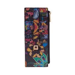 Women's Lodis Vanessa Print Credit Card Case w/Zipper Pocket Multicolored