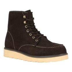 Men's Lugz Prospect Boot Dark Brown/Cream Leather