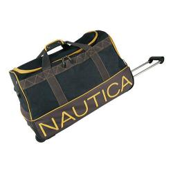Nautica Dockside 26in Rolling Duffel Navy/Grey/Yellow