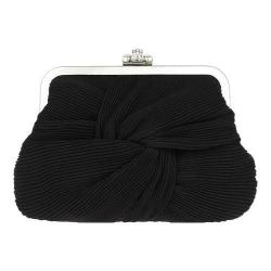 Women's Nina Alessa Frame Purse Black Chiffon