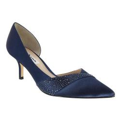 Women's Nina Bethany Pump New Navy Crystal Satin/Jolie Satin