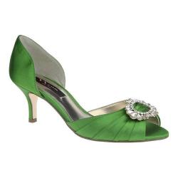 Women's Nina Crystah Apple Green Luster Satin