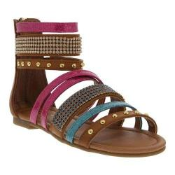 Girls' Nina Graziella Sandal Tan Multi Smooth/Metallic