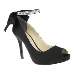 Women's Nina Karen Black Luster Satin
