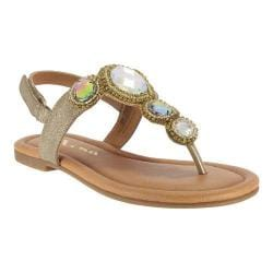 Girls' Nina Kellie Thong Sandal Taupe Distressed/Metallic