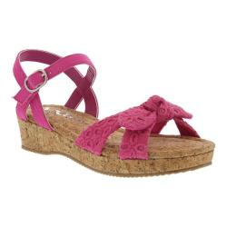 Girls' Nina Laurel Sandal Pink Eyelet Fabric