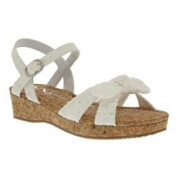 Girls' Nina Laurel Sandal White Eyelet Fabric