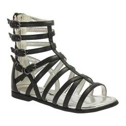 Girls' Nina Octavia Gladiator Sandal Black Smooth