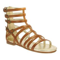 Girls' Nina Octavia Gladiator Sandal Brown Smooth