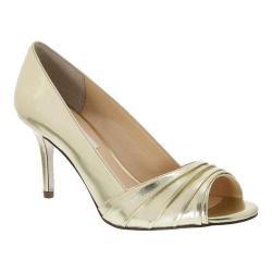 Women's Nina Vesta Peep-Toe Pump Fools Gold Foil Calf