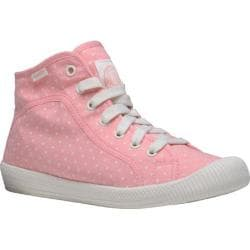 Women's Palladium Flex Lace Mid PD High Top Peach Pearl/Antique White/Polka Dots
