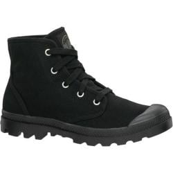 Women's Palladium Pampa Hi 92352 Linen Black/Black