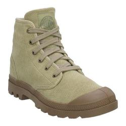 Men's Palladium Pampa Hi Canvas Stonewashed Dark Khaki