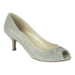 Women's Pink Paradox London Romantic Peep-Toe Pump Silver Glitter/Mesh