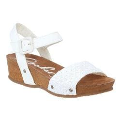 Women's Rocket Dog Gem Sandal White Kingsley Cotton/South Beach PU
