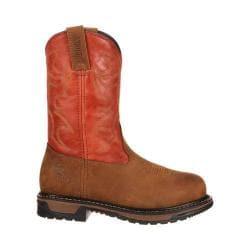 Women's Rocky 10in Roper Original Ride Steel Toe RKYW092in Boot Saffron Brown/Ochre Leather